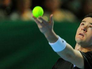 Standoff: Malek Jaziri (above) refused to play Israeli tennis plyaer Amir Weintraub in the quarter finals of teh Tashkent Challenge in October.