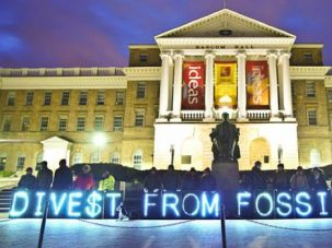A New Energy: A protest for divestment at the University of Wisconsin-Madison.