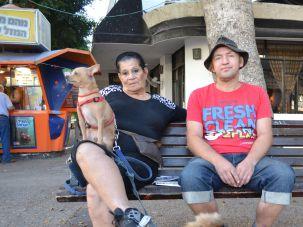 Israeli Trump supporters Yasmin Keren and Oleg Frolov.