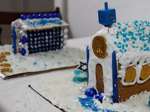 Hanukkah House: Gingerbread houses have become part of Christian tradition, but their roots are secular. This year, try your hand at making a Hanukkah-themed house.
