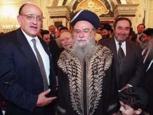 Sephardi chief rabbi Eliyahu Bakshi-Doron.