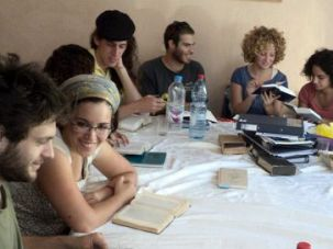 Talmud for Everyone: Secular and religious students study classical and Jewish texts in preparation for the High Holy Days dur- ing the Israeli Academy for Leadership?s month-long Elul Program.