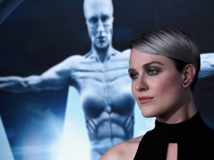 "The Host With The Most: Emmy-nominated actress Evan Rachel Wood walks the red carpet at the premiere of her HBO show ""Westworld."""