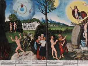 """Lucas Cranach the Elder's 1529 """"Law and Grace"""""""