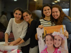 A Challah baking event in Israel in memory of Daniella Moffson.