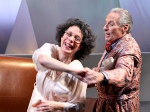 Dance With Me: Suzanne Toren with Itzy Firestone in ?The Man Who Couldn?t Stop Crying,? one of three short plays by Murray Schisgal that make up ?Shpiel! Shpiel! Shpiel!?