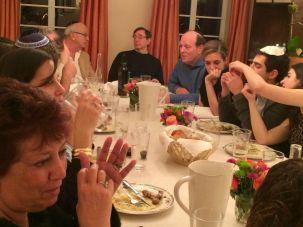 Guests at Rachel Ringler's Shabbat Table enjoyed food and conversation.