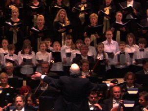 Charles Fox conducting his Oratorio, ?Lament and Prayer? with the Polish National Opera Company, Chorus and Orchestra at the Warsaw Opera House, June 30. 2009.