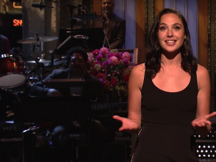 "Gal Gadot speaks Hebrew during the opening monologue of ""Saturday Night Live."""