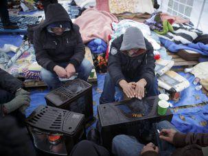 Asylum seekers in the Hague.