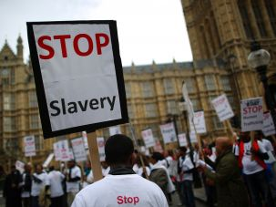Anti-slavery march, London, 2013.