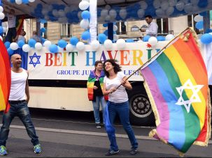 Jewish gay pride flags have been waved all over the world.