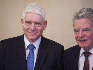 German President Joachim Gauck with Josef Schuster