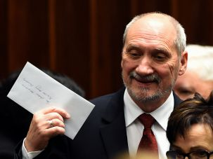 Candidate for the new defense minister, Antoni Macierewicz.