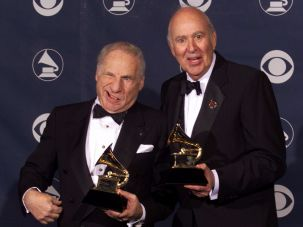 Carl Reiner With Mel Brooks