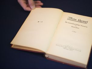 "A German edition of ""Mein Kampf."""