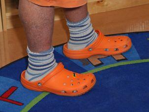 This is Mario Batali in crocs. Don't be Mario Batali.