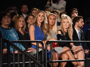 Trump's youngest daughter Tiffany was seated in the audience with the four women accusing the Clintons.
