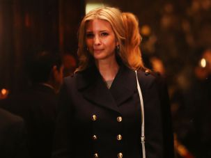 Ivanka Trump in Trump Tower.