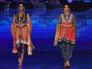 Bridal looks by Pakistani fashion designer Wardha Saleem.