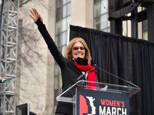 Gloria Steinem at the Women's March.