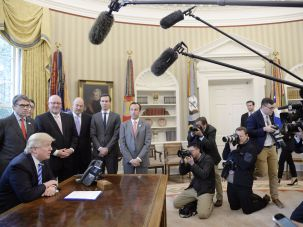Diversity in action in the Oval Office.