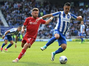Beram Kayal in action for Brighton and Hove Albion.