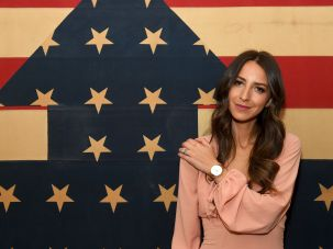 Something Navy Blogger Arielle Charnas attends the Fossil Firsts Dinner Hosted By Something Navy at 33 Greenwich, on May 11, 2017 in New York City.