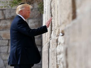 Beloved Leader? Donald Trump at the Western Wall.