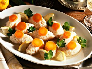Gefilte Fish from Mimi Sheraton's  '1,000 Foods to Eat Before You Die'/Workman Publishing