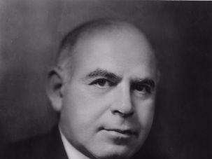 Portrait of American businessman and politician, Governor of New York Herbert Lehman.
