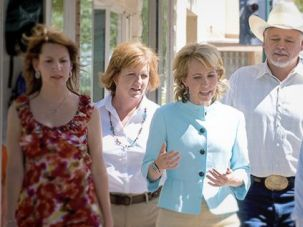 At Home: U.S. Rep. Gabrielle Giffords meets with constituents in Douglas, Ariz., in 2010