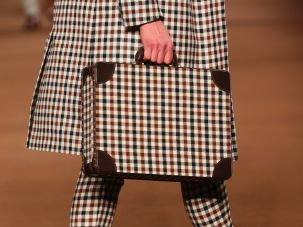 Gingham on the Etro runway.