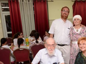 Yehuda Glick with his wife and parents.