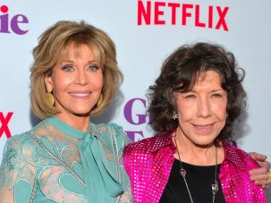 "Jane Fonda and Lily Tomlin, of ""Grace And Frankie"""