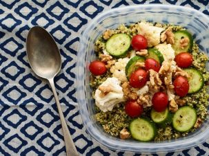 The Fresh Families green quinoa bowl.
