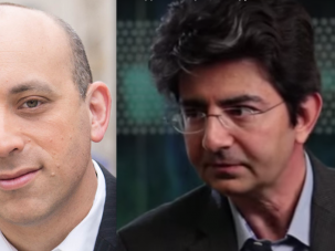 Jonathan Greenblatt (left) and Pierre Omidyar.