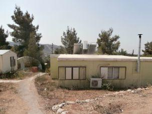 A caravan home in the Gva'ot settlement.