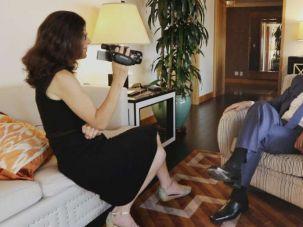 "Filmmaker Alexandra Pelosi interviews Haim Saban in her HBO documentary ""Meet the Donors."""