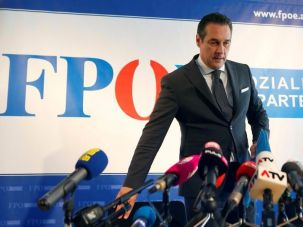 Austrian Freedom Party leader Christian Strache.
