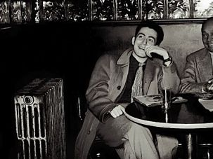 Sittin' at the Savoy: Nat Hentoff (left) and clarinetist Edmond Hall as seen in David Lewis's documentary, 'The Pleasures of Being Out of Step.'