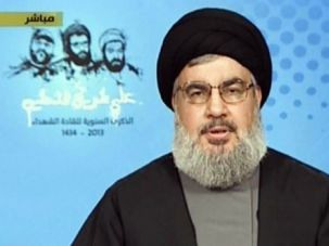Dangerous Leader: Hassan Nasrallah, the head of Hezbollah, speaking from an undisclosed location this month on Al-Manar TV.