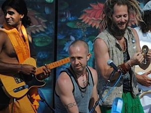 Performers and yogis gather at the annual Shakti Fest in California organized by a former AEPi president,
