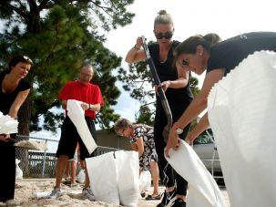 Residents of Florida prepare for hurricane Irma, September 5, 2017