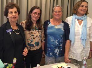 ICJW President Robyn Lenn, Anat Thon-Ashkenazy (Itach-Maaki), Roni Keidar (Other Voice) and Angela Yantian (Women Wage Peace)