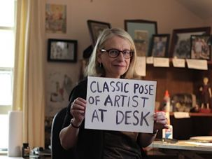 """Classic Pose: Five years after her parents passed away, Roz Chast completed a graphic memoir about what she called """"the journey we took into the last part of their life."""""""