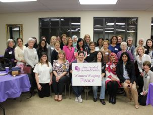 Together: Members of Sisterhood of Salaam-Shalom were among the groups that met to oppose anti-Semitism and Islamophobia.