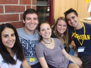 Jewish students at the University of Michigan.