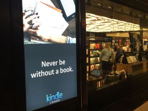 Kindle advert at the Amazon store.