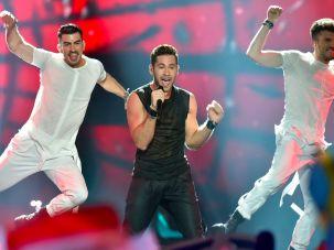 Imri Ziv in the 2017 Eurovision contest in Ukraine